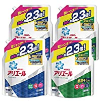 【Amazon.co.jp 限定】【まとめ買い】アリエール 洗濯洗剤 液体 詰め替え 2種セット 超ジャンボ 1.62kgx2個x2種類