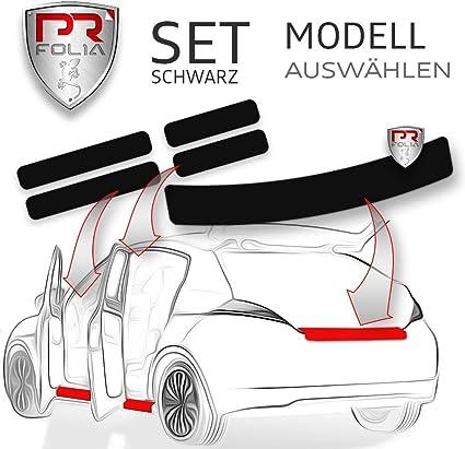Pr Folia Set Passend Für Caddy Kombi Typ 2k Ab Bj 2010 2015 Ladekantenschutz Einstiegsleisten In Schwarz Lack Schutz Folie Auto
