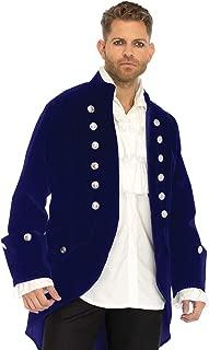 Leg Avenue Men's Blue Velvet Regency Coat