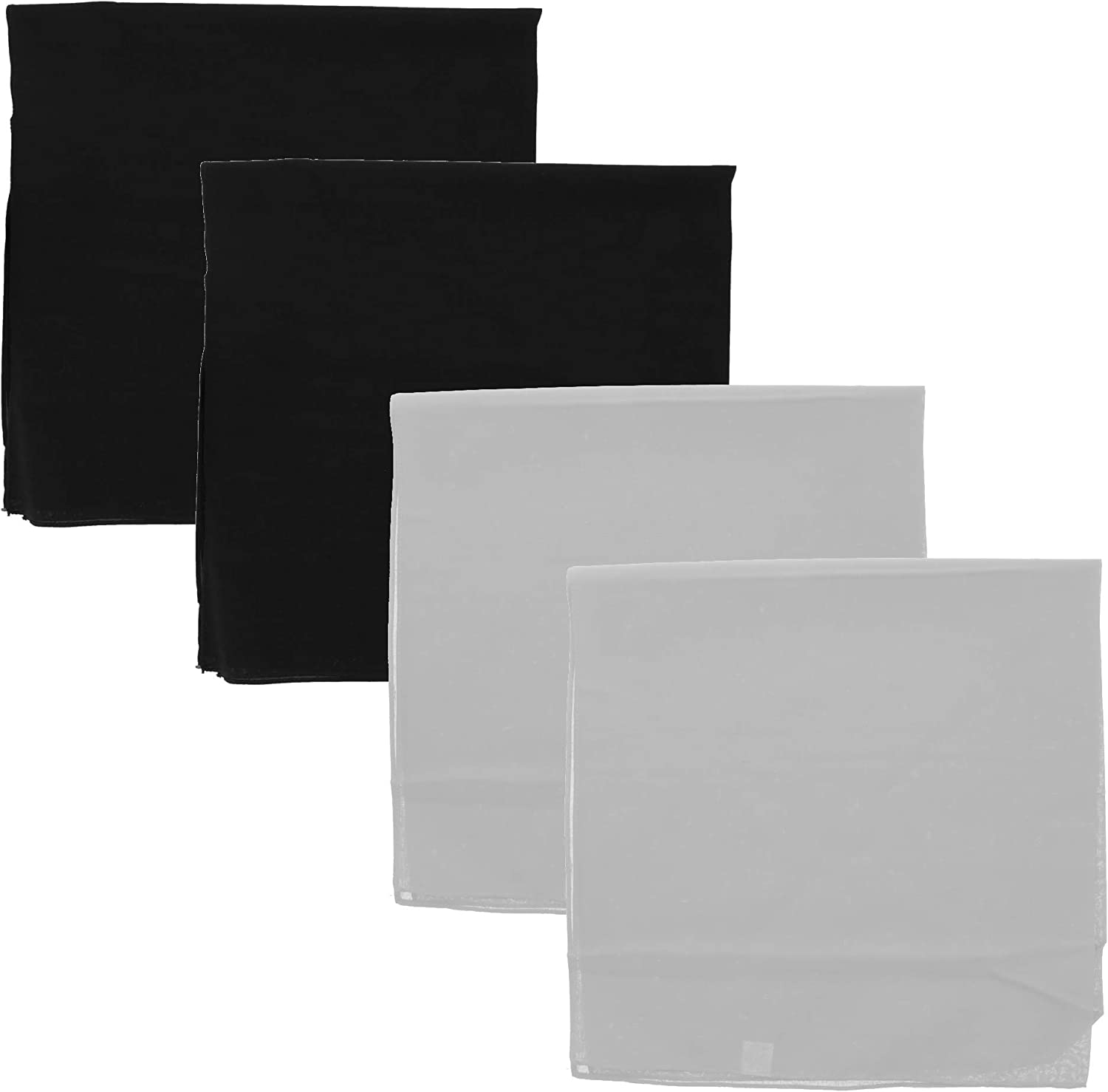4 Pack Extra Large Quality Cheap bargain inspection Inch Bandana 27x27 Solid