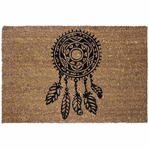 tapis déco paillasson 40x60 cm coco indila