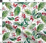 Beeren, Flora, Rot, Grün, Blätter, Zweig, Blätter Stoffe