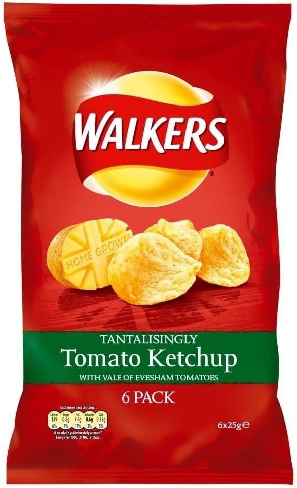 Walkers Crisps - Tomato Ketchup (6x25g) : Amazon.co.uk: Grocery