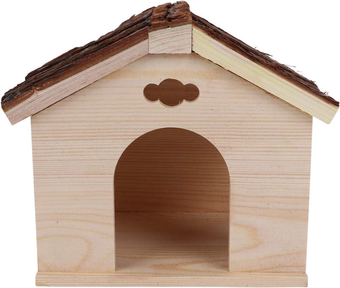 TEHAUX Guinea Pig- OFFicial mail order 1pc Squirrel 5 popular Cabin Wood House Pig Log
