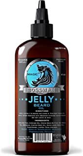 Bossman Beard Oil (4oz) – Eliminates Beard Itch, Bigger Bottle, Thicker Growth, All..