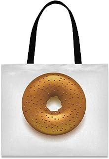 MONTOJ Damen-Handtasche / Schultertasche aus Segeltuch, Braun