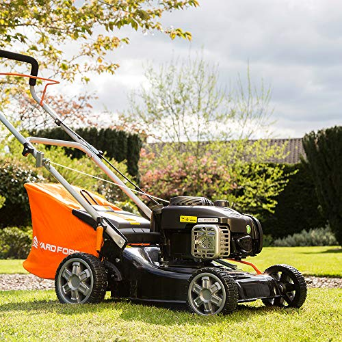 Yard Force 41cm Push Petrol Lawnmower with 125CC Briggs and Stratton 300E Engine GMB41