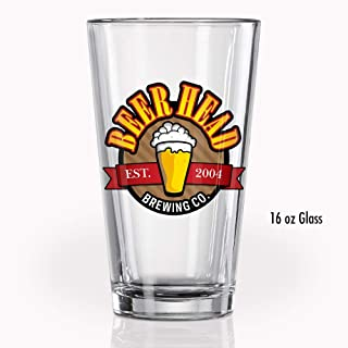 1 Personalized 16oz Full Color Clear Pint Glass - Add Photo, Logo, or Image. Great Gifts For Groomsman, Bachelorette, Housewarmings, Weddings, Anniversaries, and Birthdays.