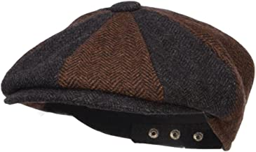 Jeanne Simmons Men`s Two Tone Wool 8 Panel Newsboy Hat