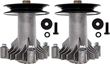 8TEN Spindle Assembly with Pulley for Husqvarna Craftsman Poulan 38 Inch 42 Inch Deck 130794 532130794 582922301 2 Pack