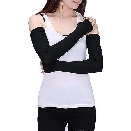 para mujer color s/ólido el/ásticos de moda para mujer LOSRLY Guantes largos sin dedos