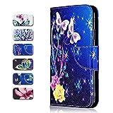 Galaxy A5 2017 Hülle, CAXPRO® PU Leder [TPU Innere] Schutzhülle, Brieftasche Handyhülle für Samsung Galaxy A5 2017 mit Standfunktion & Magnetverschluss - Schmetterling #2