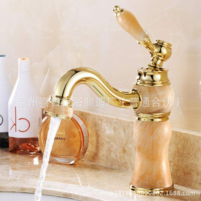 Waschtischarmaturen Küchenarmaturen Waschbecken Wasserhahn Kolophonium Jade Mit Diamant Badezimmerschrank VerGoldeten Wasserhahn Messing Waschbecken Wasserhahn