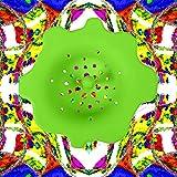 Ruisita 6 Stück Acryl Ausgießer Sieb Acryl Kunststoff Silikon Sieb Blume Abfluss Korb für Farbe Ausgießen Zubehör (Farbe Set B) - 5