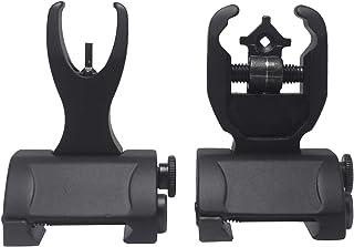 AWOTAC Black Flip Up Backup Battle Sights Front & Rear Iron Sights Fits Picatinny & Weaver Rails