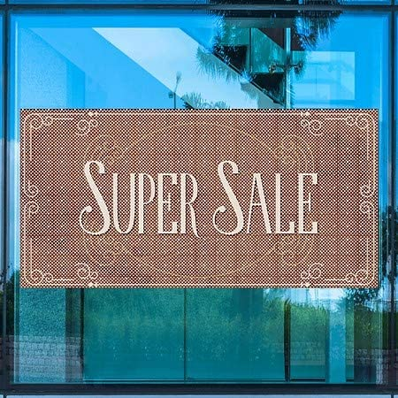 CGSignLab Super Sale 96x48 Victorian Card Perforated Window Decal