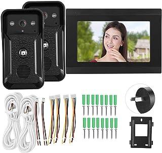 7in Video Doorphone, Camera Video Intercom, System 2 Cameras Night Looking Villas for Home Security System(Australian regu...