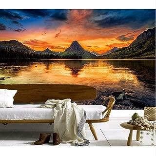 Pbldb Custom 3D Murals,Mountains Lake Sunrises and Sunsets Nature Wallpapers,Living Room Sofa Tv Wall Children Bedroom -250X175Cm