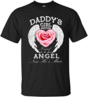 Daddy's Girl Fused To Be His Angel Now He's Mine Tank Top Shirt Unisex Short Long Sleeve Ladies V-Neck Tank Men Women Tee Gifts