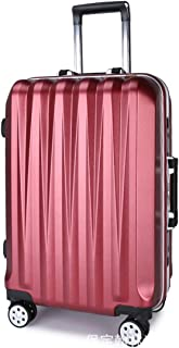 """Stylish and durable Wheels Travel Rolling Boarding,20"""" 26"""" Inch 100% Aluminium Spinner Aluminium Convenient Trolley Case,Super Storage Luggage Bag, high quality (Color : Red, Size : 26inch)"""