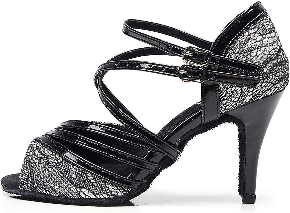 HROYL Dance Shoes for Women Latin Dance Shoes Women Ballroom Tango High Heel Women Dance Shoes,QJW7153