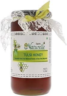 Farm Naturelle-Virgin Raw Natural Unprocessed Tulsi Forest Flower Honey - 1 KG Glass Jar (Ayurved Recommended)-Huge Medici...