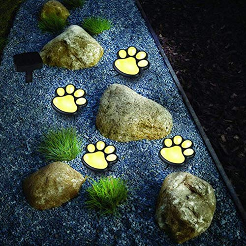 Solar Ground Light Paw Print S Set Outdoor Solar Lawn Lamp Creative Animal Footprint Lamp Garden Led Lamp Bear Claw Lamp