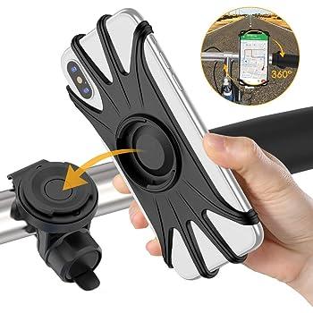 VUP Porta Cellulare Bici, Supporto Telefono per Bici, Staccabile & Universale ruotabile a 360 ° Smartphone per iPhone 11 PRO X XS Max XR 7 8 Plus, Samsung S8 S9+ S10 S20 Plus