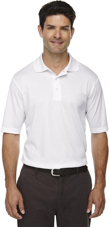 Ash City Core 365 Men's Tall Origin Performance Piqué Polo, 3XT, White 701