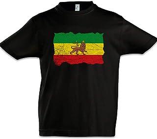 Urban Backwoods Ethiopia Rastafari Flag Niños Chicos Kids T-Shirt