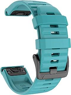 ANCOOL Compatible with Fenix 6 Bands 22MM Easy-fit Soft Silicone Watch Band Replacement for Fenix 6/Fenix 6 Pro/Fenix 5/Fenix 5Plus Smartwatches, Rock Blue