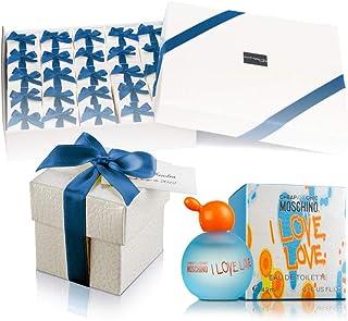 Pack 25 mini perfumes de mujer como detalles de boda para invitados Moschino I love love Eau de toilette 49 ml. original