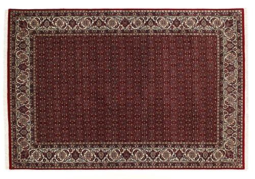 JAWIN HERATI echter klassischer Orientteppich handgeknüpft in rot-creme, Größe: 120x180 cm