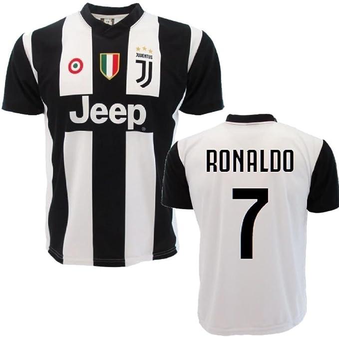 Perseo Trade Maglia Juventus Replica Ufficiale Personalizzata Nome e Numero del Tuo Campione Tipo Ronaldo PS 27365 Porta CD