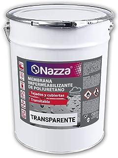 Membrana Impermeabilizante de Poliuretano TRANSPARENTE   Revestimiento elástico para realizar impermeabilizaciones en TERRAZAS, CUBIERTAS Y AZOTEAS de alta calidad y resistencia   15 Litros