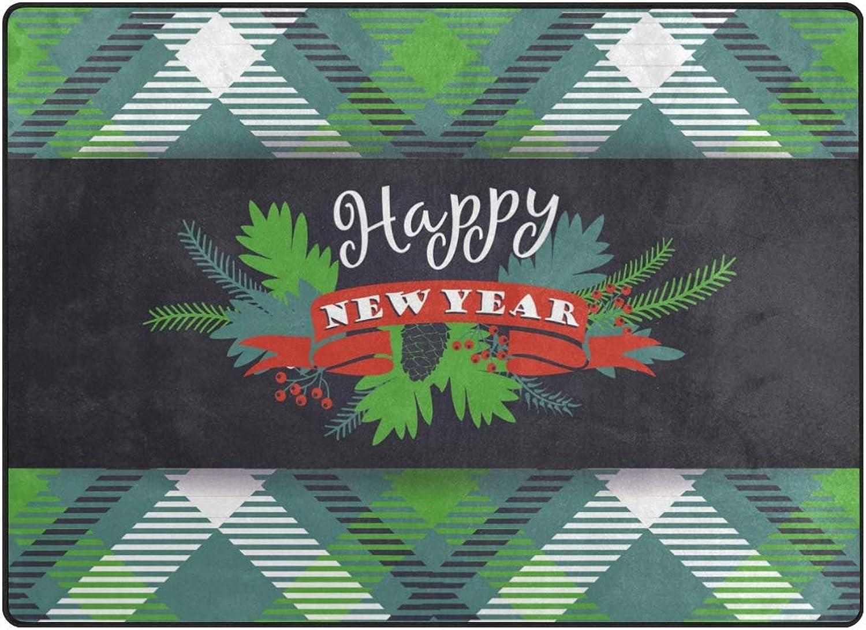 FAJRO New Year Stewart Tartan Pattern Polyester Entry Way Doormat Area Rug Multipattern Door Mat Floor Mats shoes Scraper Home Dec Anti-Slip Indoor Outdoor