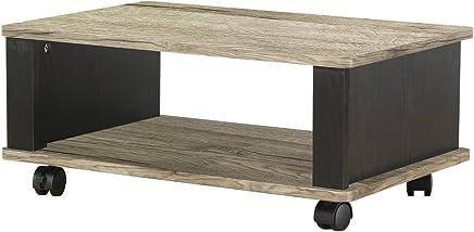 岩附(IWATSUKI)电视台 棕色 宽60cm 22型 22英寸 附脚轮 滑板 木制 小型 IW-105