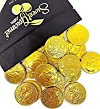 SweetGourmet Milk Chocolate Gold 50c Coins | Premium Belgian Chocolate | 15 oz bag