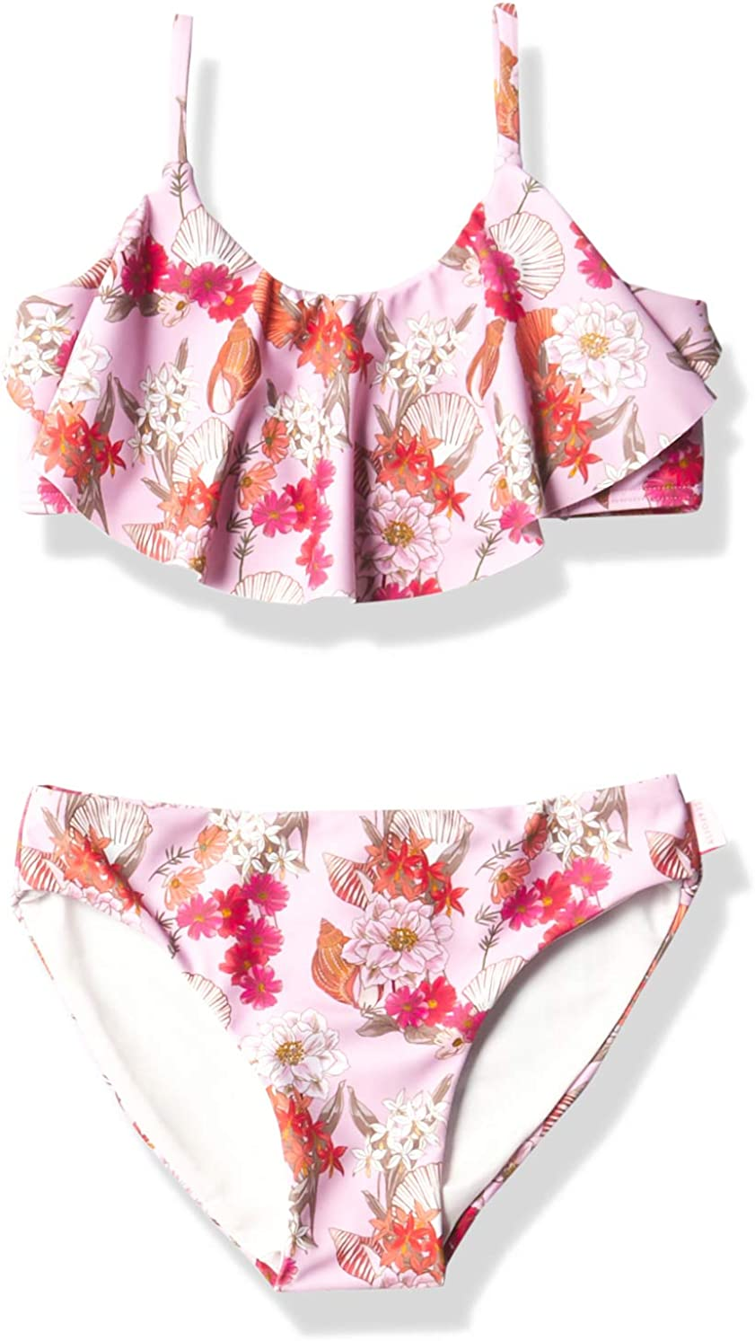 Seafolly Girls' Cheap mail order sales Ruffle Large discharge sale Set Tankini Swimsuit