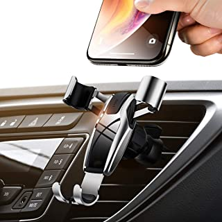 AINOPE Cell Phone Holder for Car, Gravity Car Phone Mount Auto-Clamping Air Vent Car Phone Holder Universal Car Phone Mount Compatible iPhone Xs MAX/X/XR/8/7, Galaxy Note 9/S10 Plus/S9 - Silver
