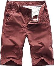 NOBRAND Pantalones cortos de bolsillo trasero con botones para hombre