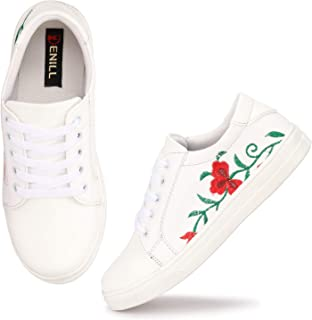 Denill Latest Collection, Comfortable & Stylish Embroided Sneakers for Women's and Girl's