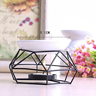 Stainless Steel Oil Burner Candle Aromatherapy Oil Lamp Home Decorations Aroma LED Light Halloween Onsale
