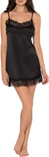 Women's Satin & Lace Slip Dress