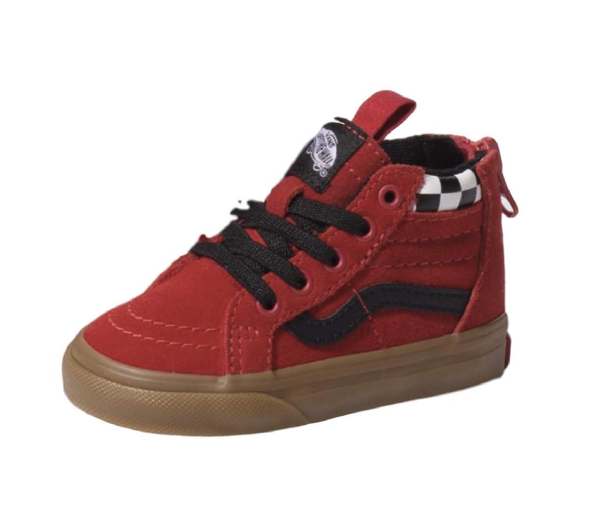 Vans Boy's Toddler's SK8-HI Zip (MTE) Checkerboard Sneaker esghp7356