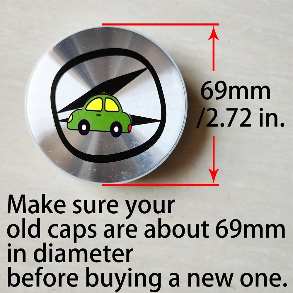 Color Name : A Hub Cover 69MM Car Wheel Center Hub Cover Caps for ...