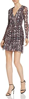فستان حريمي برقبة على شكل حرف V بتصميم شبكي من الخلف تينا من باركر