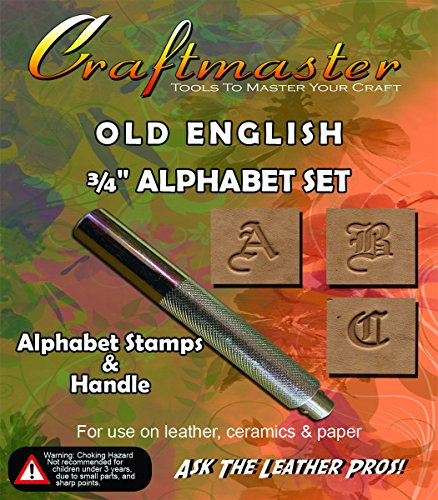 3/4' Old English Alphabet Stamp Set