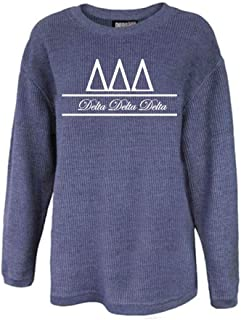Delta Delta Delta Sorority Corded Crew Sweatshirt Tri Delta