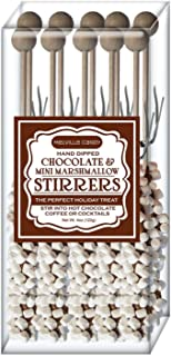Melville Candy Holiday Limited Hot Chocolate Stirrers Gift Set (Marshmallow Choco 10)